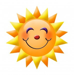 Image of smiling sun