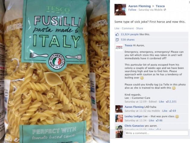 Tesco horsemeat pasta